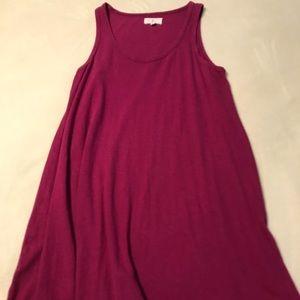 Lou & Grey Linen/ Cotton Tunic Swing Dress